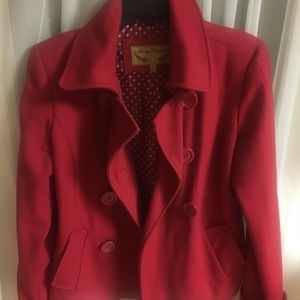 Jackets & Blazers - Red pea coat